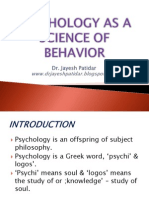 Psychology as a Science of Behavior