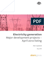 Abare Aust Energy Generation April 2010
