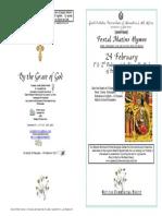 2014 - 24 Feb -1st Finding St John Baptist Head