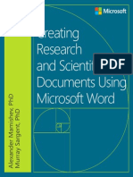 Creatinfdsfa fdsa fdsag Research and Scientific Documents Using Microsoft Word