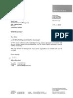15.03.13 - Letter to Salem Patel