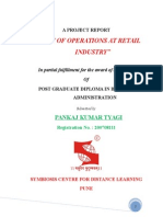 Project Report on Operations Retail