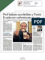 Prof italiano accoltellato a Tunisi. Il cadavere carbonizzato in casa - Quotidiano Nazionale del 5 febbraio 2015