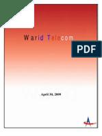 warid brand managment project