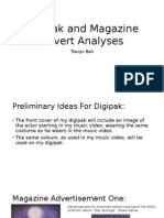 Digipak and Magazine Advert Analyses