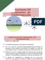 Aplicaciones de Los Comp. de Coordinación.