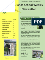 Uplands School Weekly Newsletter - Term 2 Issue 4 - 6 February 2015