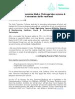 Press Release - 2015 Hello Tomorrow Challenge