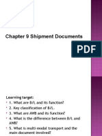 Chapter 9 Transportation Documents