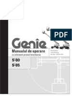 Manualul de operare Genie S80-85