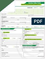 PTCL Service Form