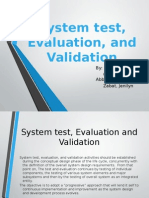 System Test Evaluation and Validation Final