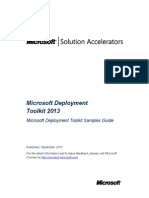 Microsoft Deployment Toolkit Samples Guide