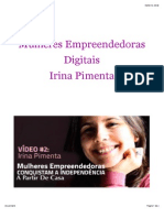 Mulheres Empreendedoras Digitais - Irina Pimenta