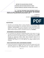 Adjudication Order in respect of Govind Rubber Limited in the matter of non redressal of Investor grievances
