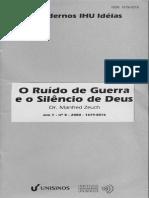 O Ruído de Guerra e o Silencio de Deus