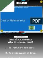 Ch 1.4 - Schedule of Maintenance