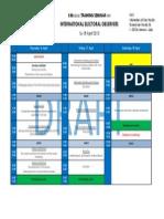 Draft Programme STO 2nd Module