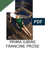 Francine Prose -  Prima iubire.doc