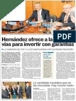 Reunión de Patricia Hernández con la Confederación Canaria de Empresarios