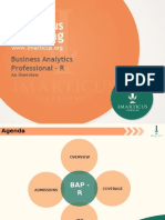 An Overview of Business Analytics Professional – R at Imarticus