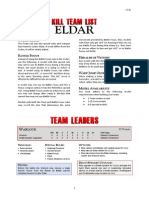 Kill Team List - Eldar v3.0a