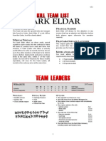 Kill Team List - Dark Eldar v3.1