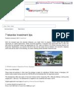 7 Iskandar Investment Tips - Starproperty
