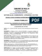 Bando Docenti Scuola Civica Di Musica Sonos 2014