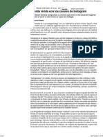 Marcelo Pisarro, La Vida Vivida Con Los Colores de Instagram, Revista Ñ, 17 de enero de 2015.