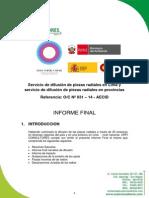 Informe Spots Radiales Mujeres&CC