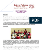 Maitreya Pathshala Waldorf Inspired School and Worldganic Biodynamic Farm 'Newsletters' Feb 2015