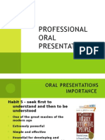 Professional Oral Presentations. Taller
