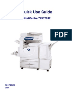Xerox WorkCentre 7232/7242 Quick Usage Guide