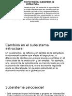 Aspectos Importantes Del Subsistema de Estructura Roberto