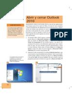 Outlook 2010, abrir y cerrar