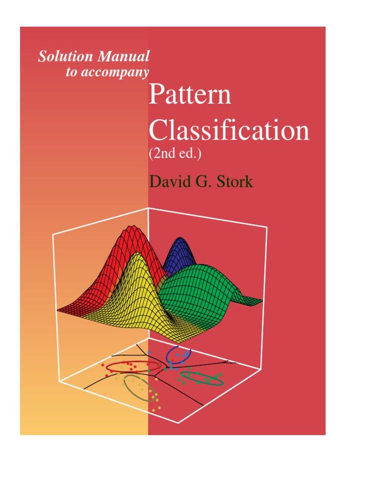 Solution manual pattern classification duda hart stork 2nd ed pdf.