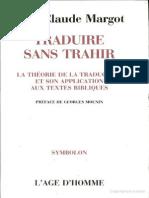 Traduire Sans Trahir Jean Claude Margot