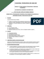 Directiva Aplazados 2014-II Untels