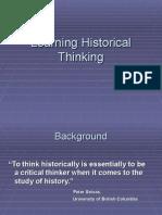 historical thinking intro