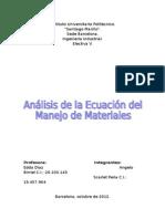 Análisis de la ecuación del manejo de materiales.doc