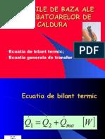 Transfer de Caldura, Ecuatii Calc Term