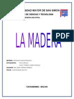 Proceso de La Madera - Baño Antimanchas