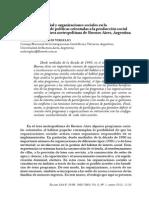 Participación social y organizaciones sociales en la implementación de políticas orientadas a la producción  social del habitat  en el área Metropolitana de Buenos Aires