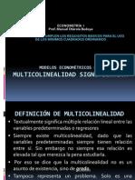 Modelos Econométricos Con Multicolinealidad Significativa (2)