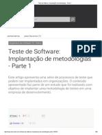Teste de Software_ Implantação de Metodologias - Parte 1