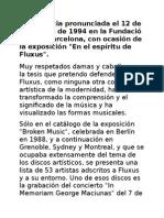 Fluxus Conferencia