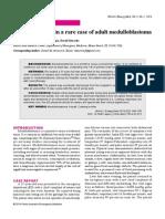 Cushing's reflex in a rare case of adult medulloblastoma