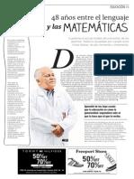 """Leer el artículo """"48 años entre el lenguaje y las matemáticas"""""""
