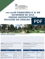 INFORME FINANCIERO A 31 DE DICIEMBRE DE 2014 UNIDAD ADMINISTRATIVA  FACULTAD DE CIENCIAS HUMANAS